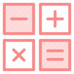 button, buttons, calculate, calculator, educationicons, four, machine, maths, symbols icon