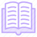 book, books, education, educational, opened, reading, text, tool, tools icon