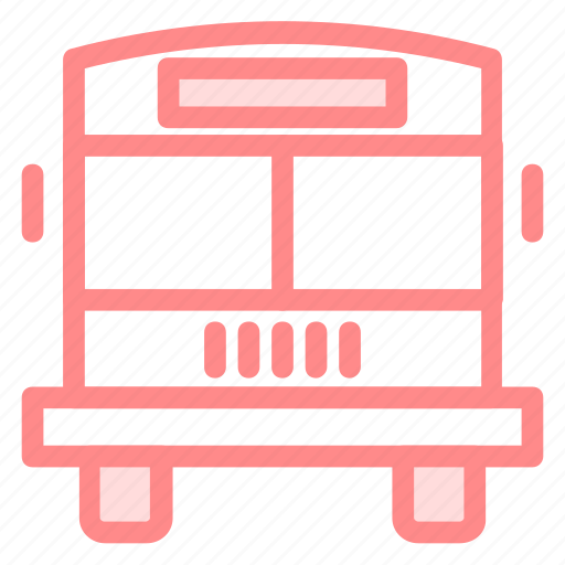 bus, education, kids, passengers, school, schoolbus, students, transport, travelling icon
