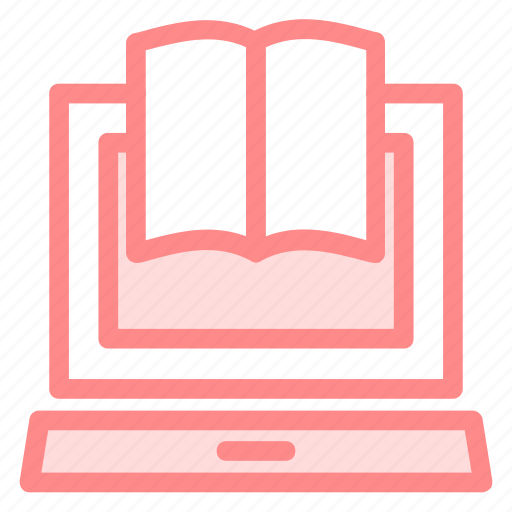 books, computer, education, educational, laptop, learning, opened, studying, tools icon
