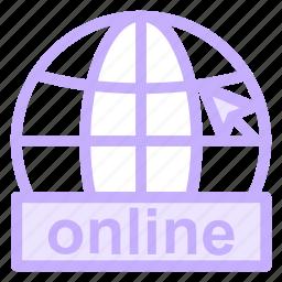 educationalicons, international, internet, learning, online, service, symbol, web, world icon