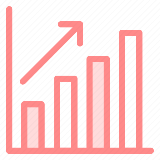 financial, graph, stock, successicon icon
