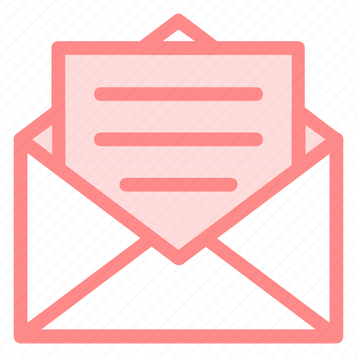 email, envelope, hawdocsstroke, interface, mail, message, opened, outlined, symbol icon