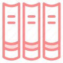 book, books, group, grouped, housethings, library, objects, reading, study icon