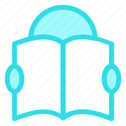 book, education, eyeglasses, learning, man, person, reading, studying, teaching icon