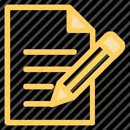 notepad, pen, pencil, texticon icon