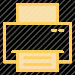 button, paper, print, printer, printing icon