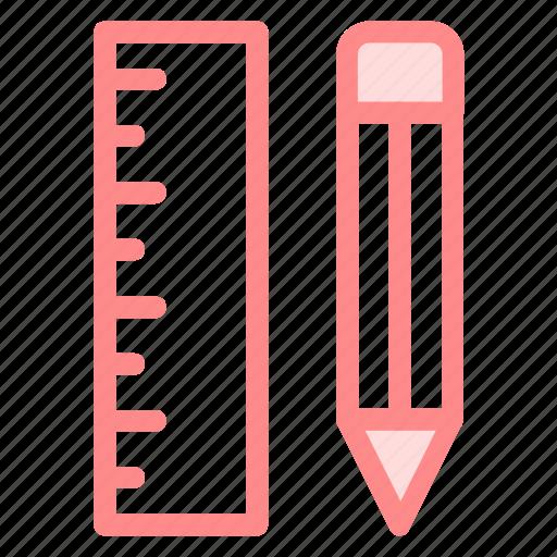 measurement, pen, pencil, ruler, rulers icon