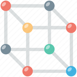 cube, cube molecule, geometry, hypercube, mathematics icon