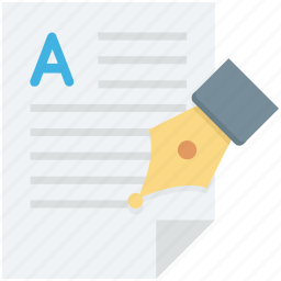 edit, paper, pen, signature, writing icon