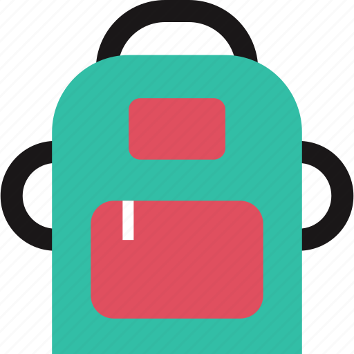backpack, carry, education, item, learning, school icon