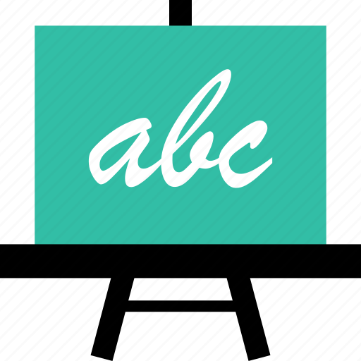 abc, board, education, learn, learning, school icon