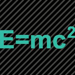 education, emc2, formula, learning, school icon