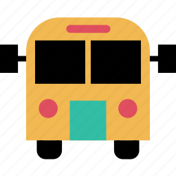 bus, education, learning, school, vehicle icon