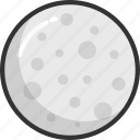 full moon, galaxy, moon, planet, sun icon