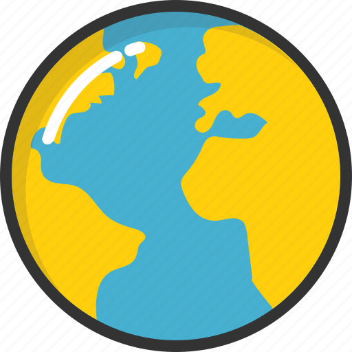 earth, globe, map, planet, world icon