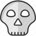 danger, death, head, skeleton, skull icon