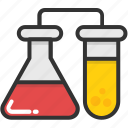 chemical, flask, lab test, laboratory, test tube icon