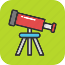 astronomy, explore, spyglass, telescope, vision icon
