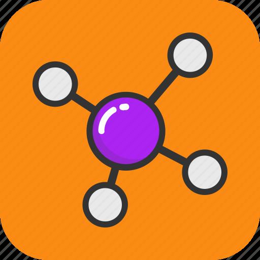 Atom, atom bond, electron, molecule, science icon - Download on Iconfinder
