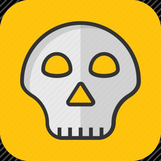 danger, death, head, skeleton, skull icon