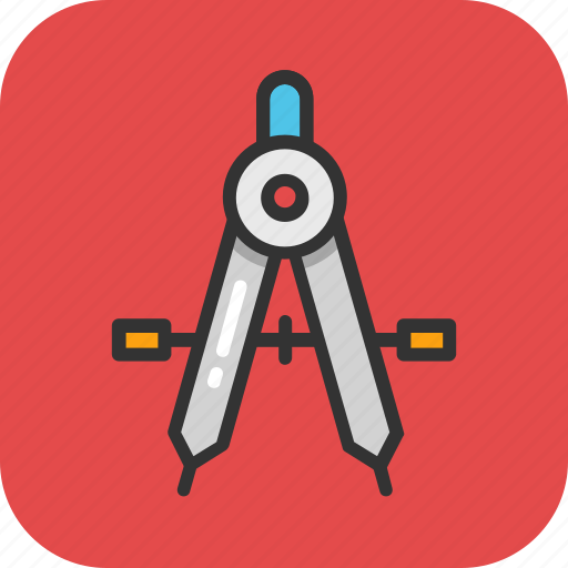compass, divider, drawing, geometry, geometry compass icon