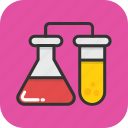 chemical, flask, lab test, test tube, laboratory