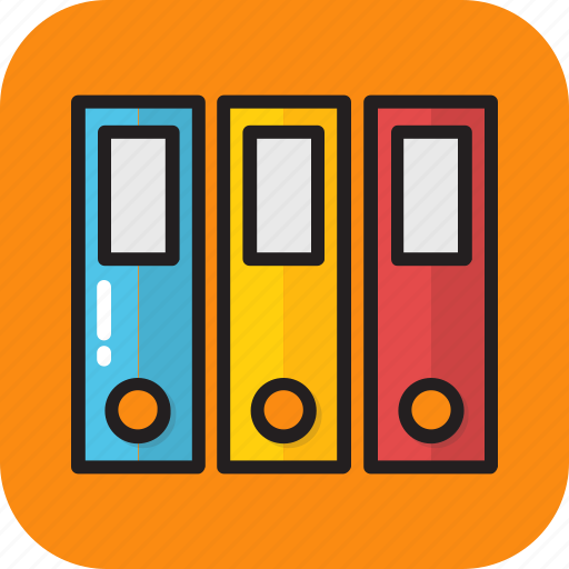 archives, binders, documents, file folders, files icon