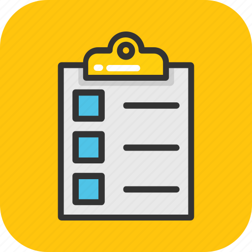 checklist, clipboard, document, notes, paper icon