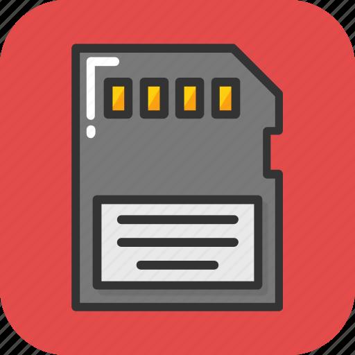 chip, memory, memory card, sd card, storage icon