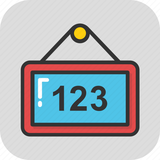 classroom, counting, education, maths, school icon