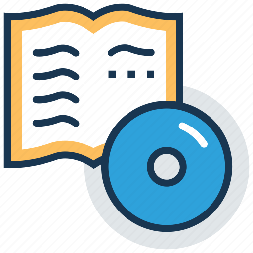 audio book, audio lecture, digital book, distance learning, ebook icon