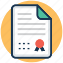certificate, degree, diploma, licence, school certificate