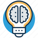 brain, bulb, creative mind, innovative, intelligent icon
