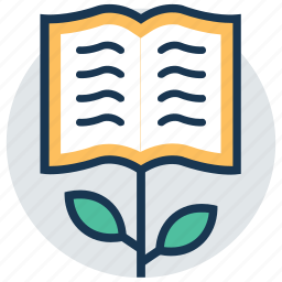 book tree, development, education progress, education rise, knowledge growth icon