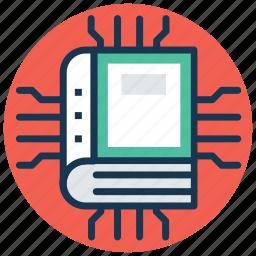 digital education, e learning, ebook, learning technology, modern education icon