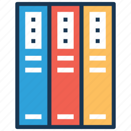 arch files, archives, binders, documents, file folder icon
