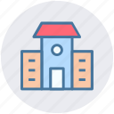 building, home, house, property, rent, school icon