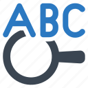 abc, google, preschool, web search icon
