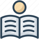 book, education, learn, read, student, study icon