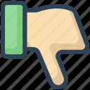 education, hand, no, unlike, vote icon