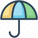 education, insurance, protection, umbrella, weather icon