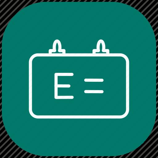 blackboard, chart, education, knowledge, learning, presentation, science icon