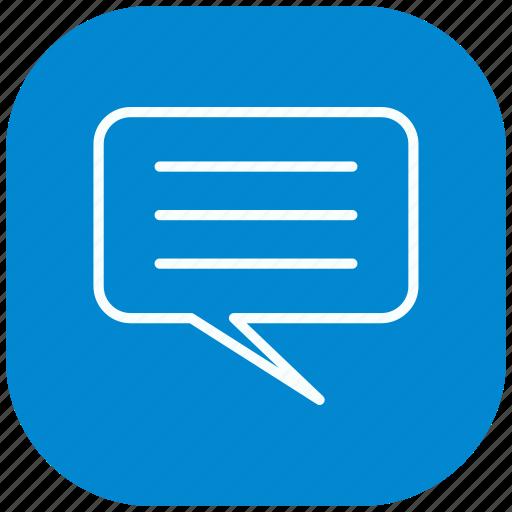 chat, communication, conversation, message, sms, speech, talk icon