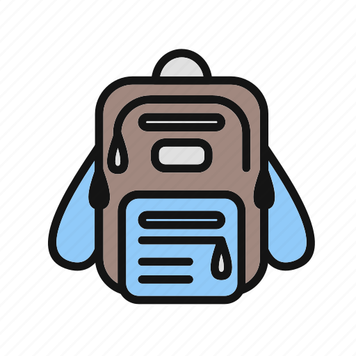 bagpack, education, graduation, learning, reading, school bag, student icon