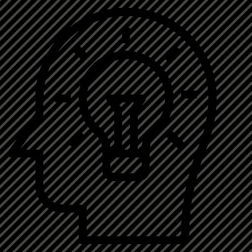 brain, education, idea, strategy, think icon