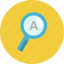 business, concept, design, indentify, magnifier icon