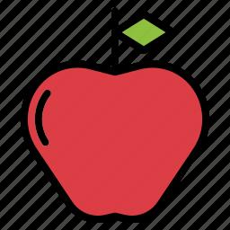 apple, fruit icon
