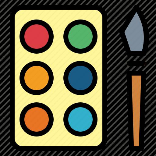 paint, paint palette, palette icon