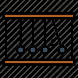 momentum, newton, physics icon
